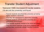 transfer student adjustment3