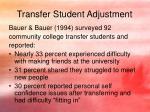 transfer student adjustment4