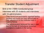 transfer student adjustment6