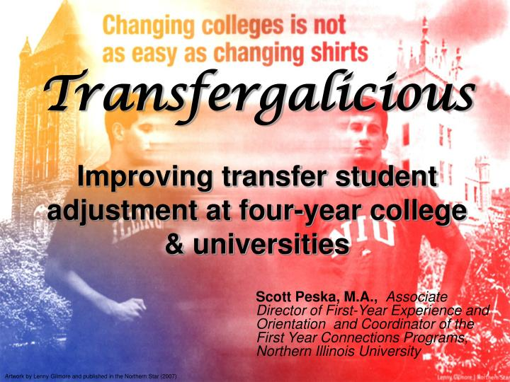 transfergalicious improving transfer student adjustment at four year college universities n.