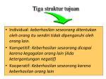 tiga struktur tujuan