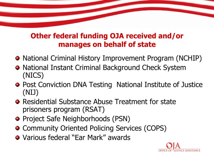 National Criminal History Improvement Program (NCHIP)
