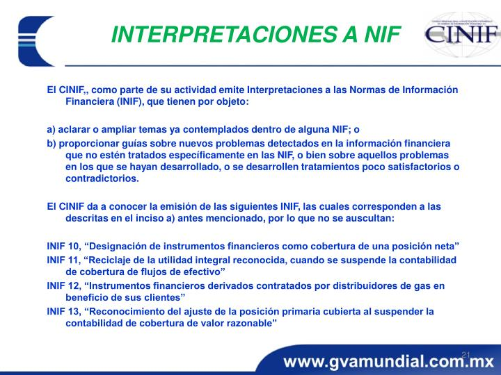 INTERPRETACIONES A NIF