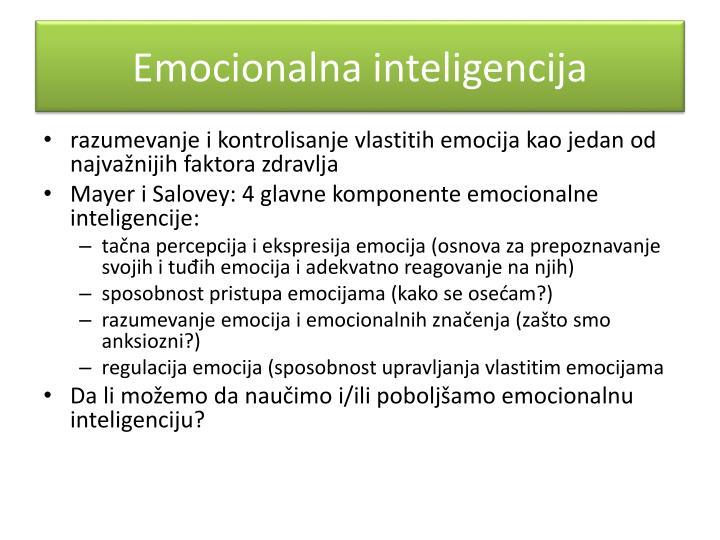 Emocionalna inteligencija