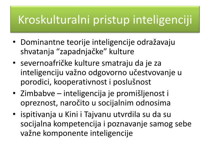 Kroskulturalni pristup inteligenciji