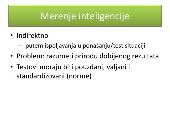 Merenje inteligencije