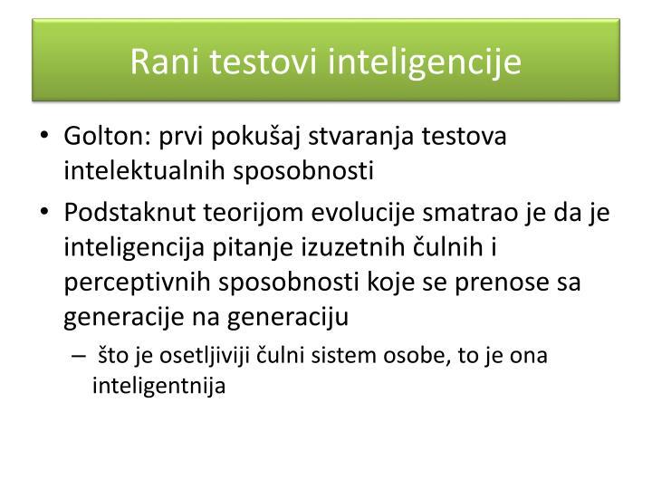 Rani testovi inteligencije