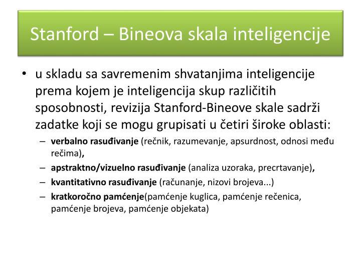 Stanford – Bineova skala inteligencije