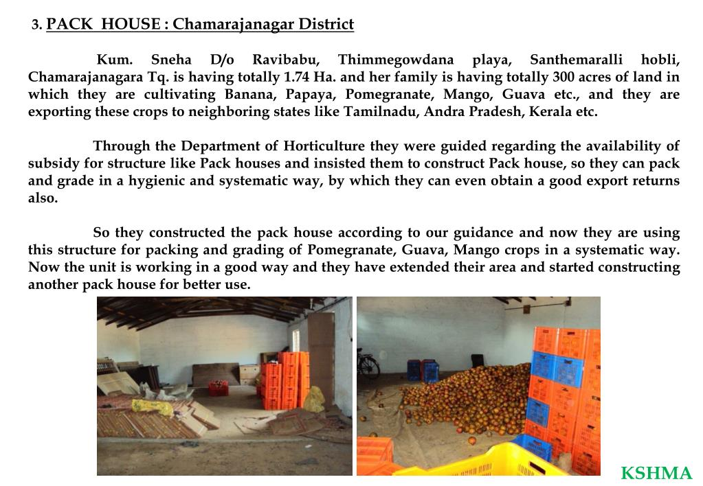 PPT - GOVERNMENT OF KARNATAKA D EPARTMENT O F H ORTICULTURE