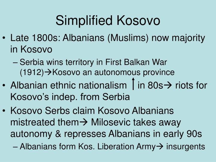 Simplified Kosovo