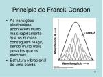 princ pio de franck condon