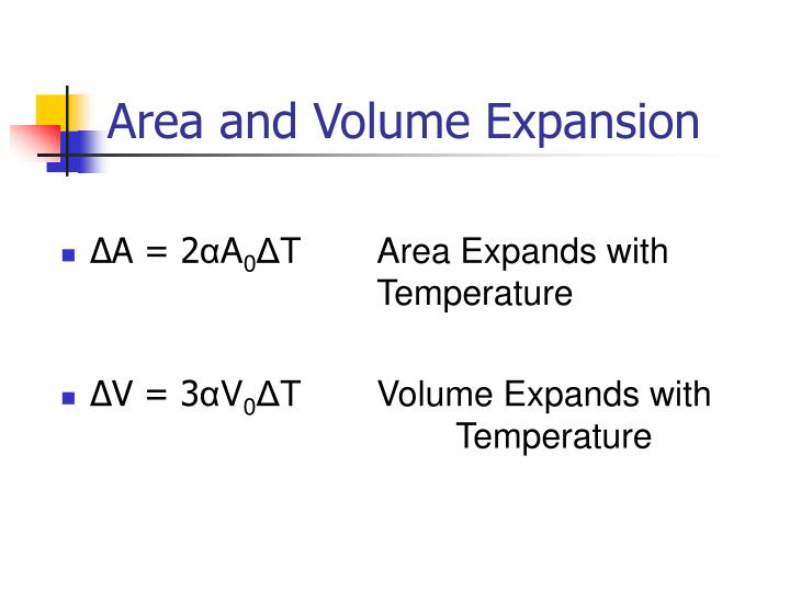 Area and Volume Expansion