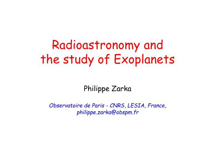 Radioastronomy and