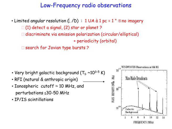 Low-Frequency radio observations