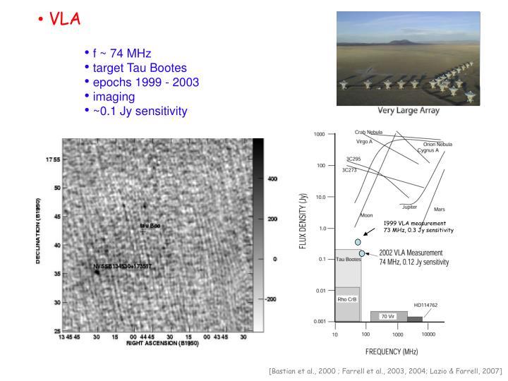 1999 VLA measurement