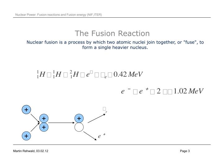 The fusion reaction