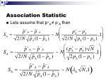 association statistic1