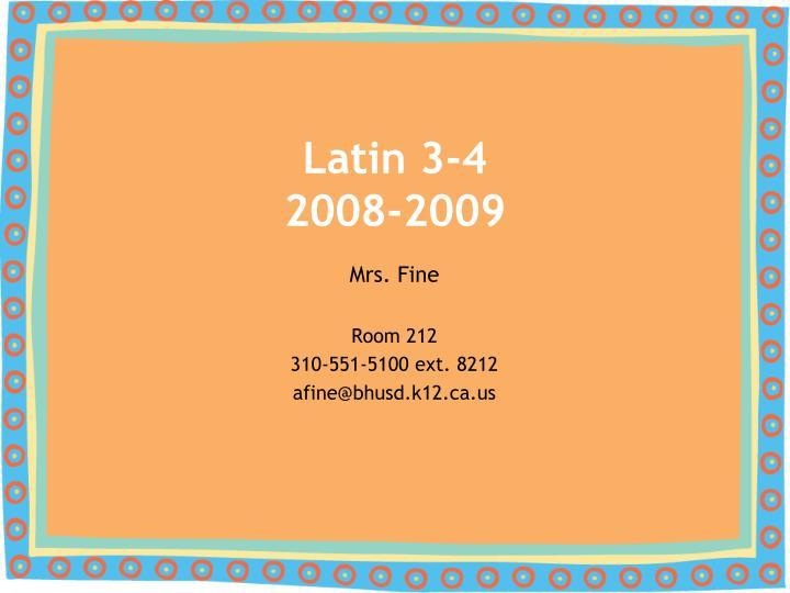 latin 3 4 2008 2009 n.
