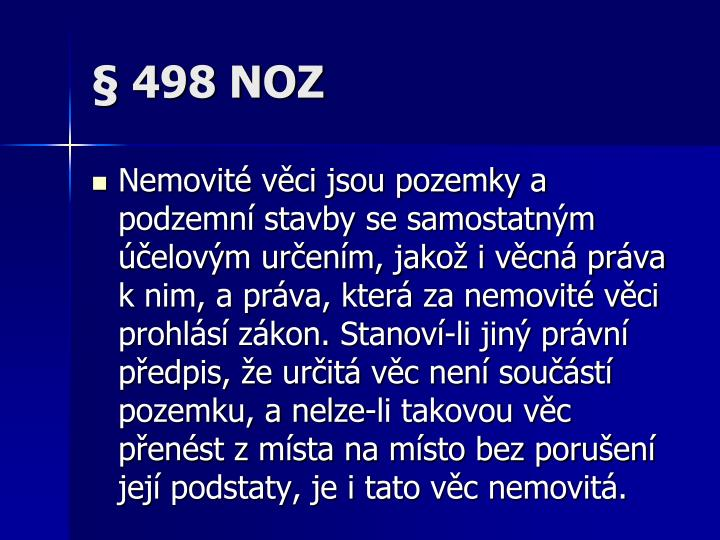§ 498 NOZ
