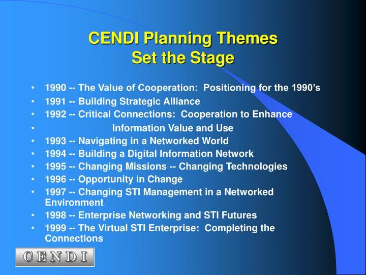 CENDI Planning Themes