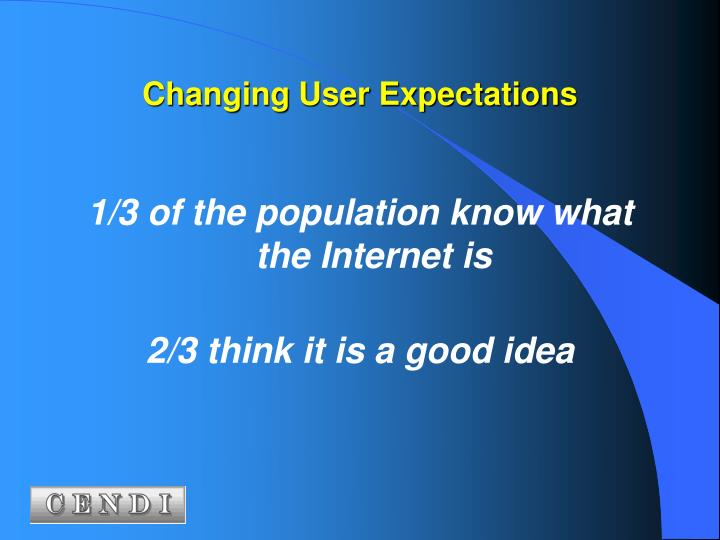 Changing User Expectations