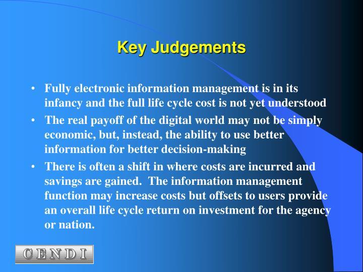 Key Judgements