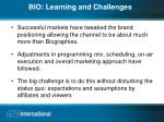 bio learning and challenges