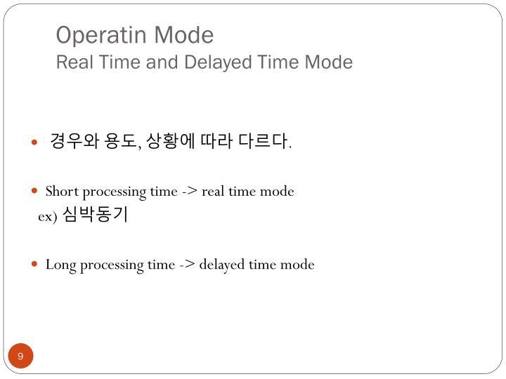 Operatin Mode