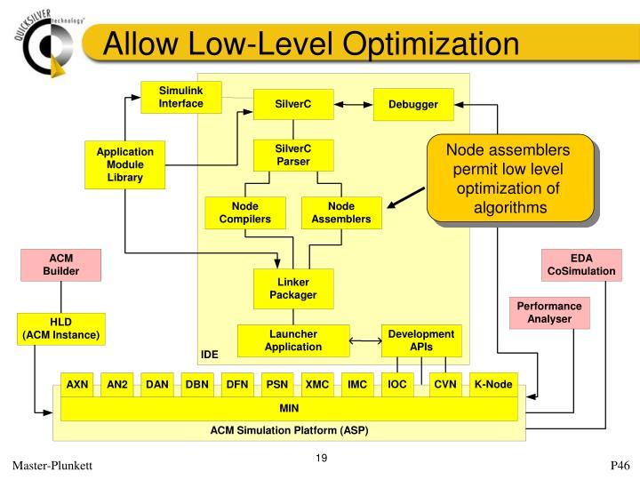 Allow Low-Level Optimization