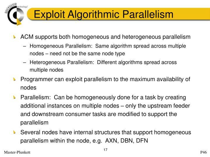 Exploit Algorithmic Parallelism