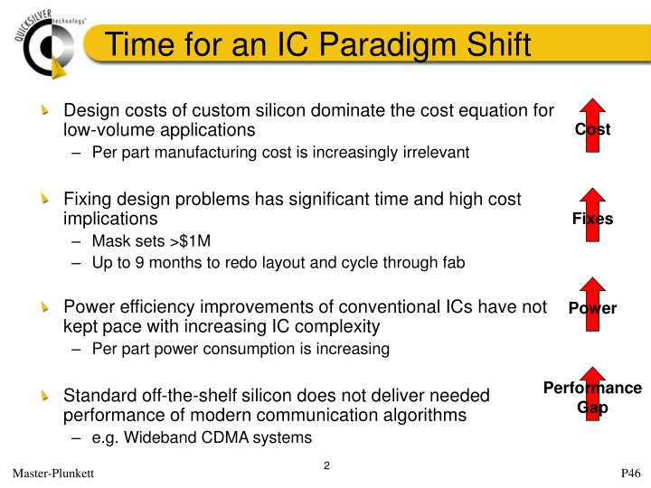 Time for an ic paradigm shift