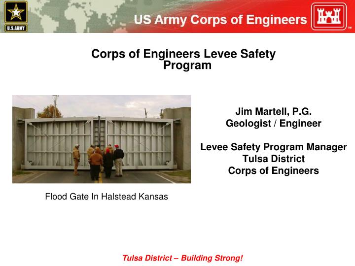Corps of Engineers Levee Safety Program