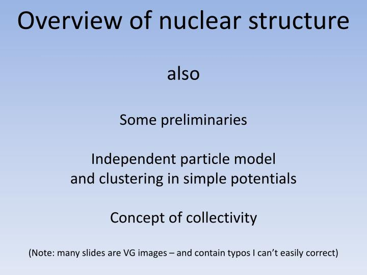 Overview of nuclear structure