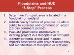 floodplains and hud 8 step process