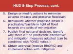 hud 8 step process cont