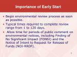 importance of early start