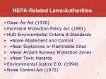 nepa related laws authorities1