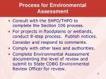process for environmental assessment