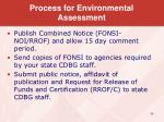 process for environmental assessment1