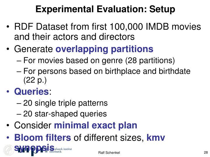 Experimental Evaluation: Setup