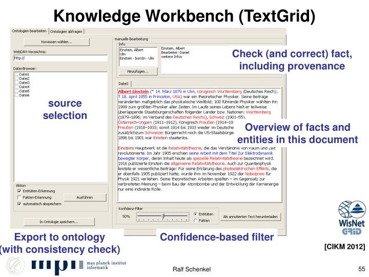 Knowledge Workbench (TextGrid)