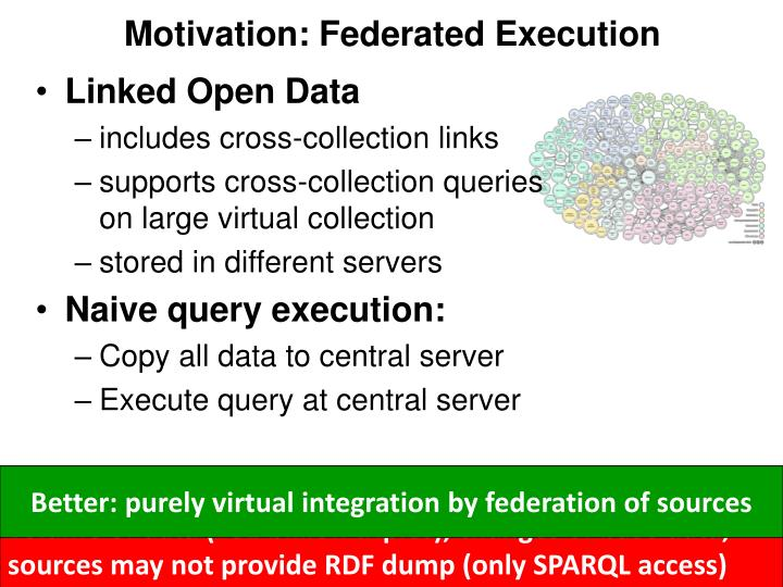 Motivation: Federated Execution