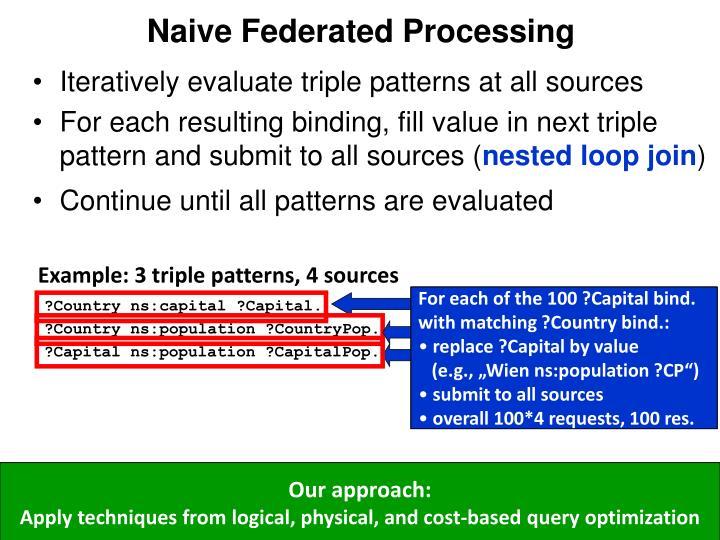 Naive Federated Processing