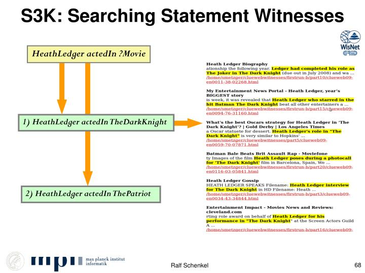 S3K: Searching Statement Witnesses