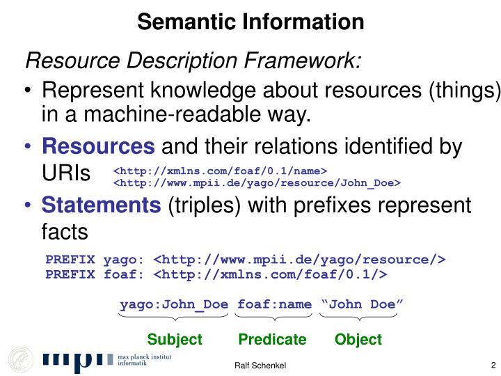 Semantic information