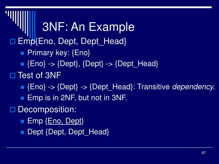3NF: An Example
