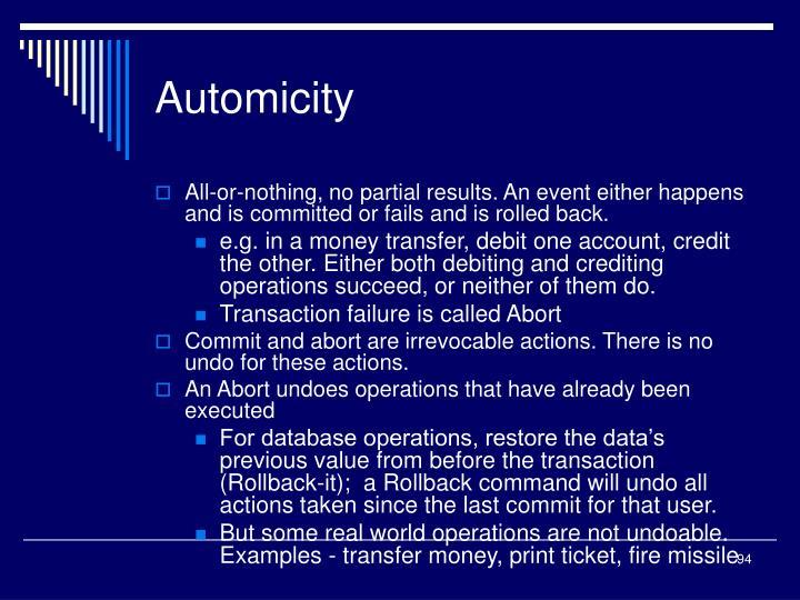 Automicity