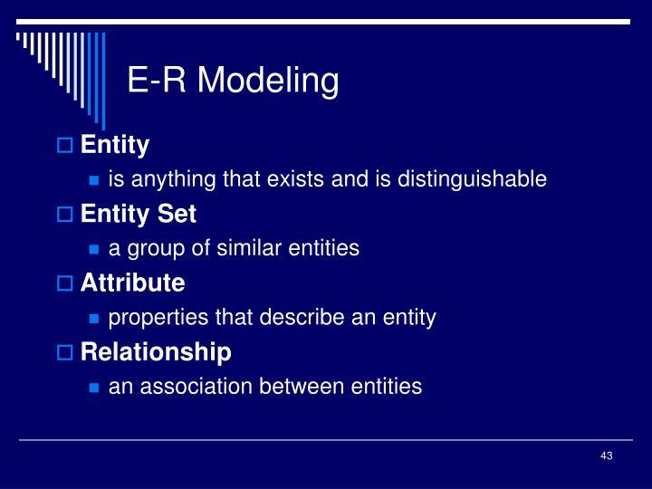 E-R Modeling