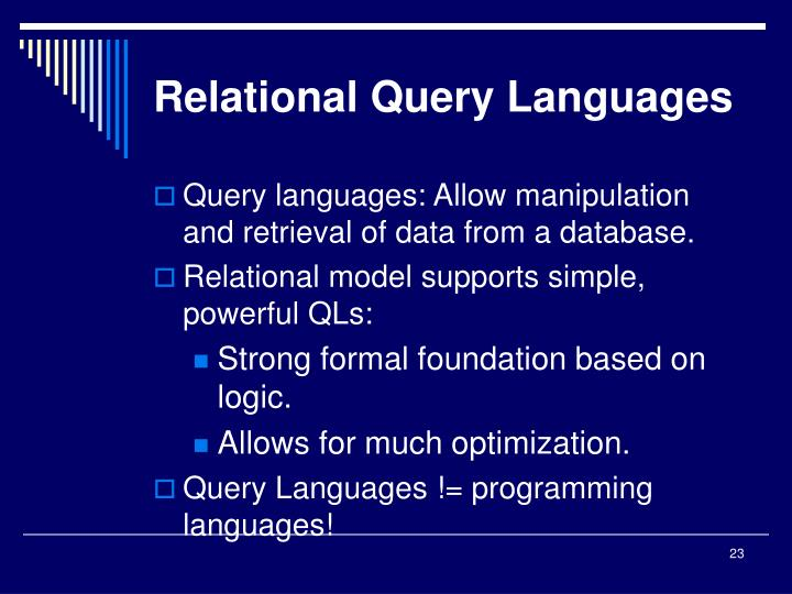 Relational Query Languages