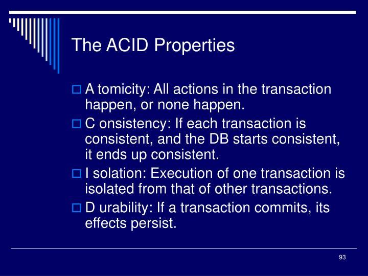 The ACID Properties